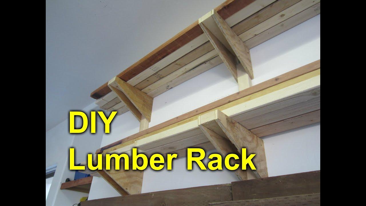 Garage Lumber Rack Easy Cheap Diy Project Youtube