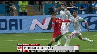 Mundial Rusia 2018, Grupo B: Portugal 3 – 3 España
