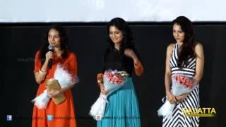 Heroines Pooja, Lekha Washinton and Rupa Manjari at Amara Kaaviyam Audio Launch