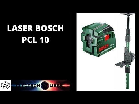niveau laser bosch pcl 10 tige t lescopique tp 320 youtube. Black Bedroom Furniture Sets. Home Design Ideas