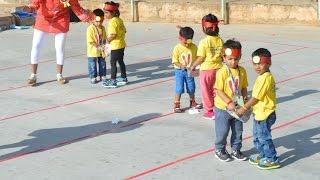 Nursery Ball Race || Sports Day || 2016-17 || Eurokids A S Rao Nagar || Health is Wealth Day