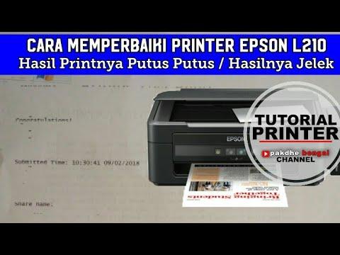 Cara Memperbaiki Printer Epson L210 Yang Hasilnya Putus Putus