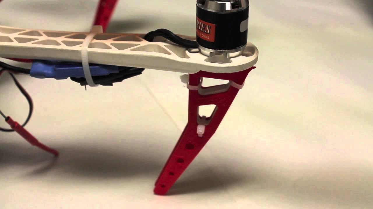 3D Printed Arm Extensions for DJI Flamewheel Frame using Makerbot  Replicator 2