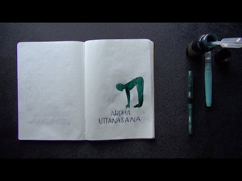 Robert Oster Tranquility & Noodler's Nib Creaper: Monday Matchup #135 Time Lapse