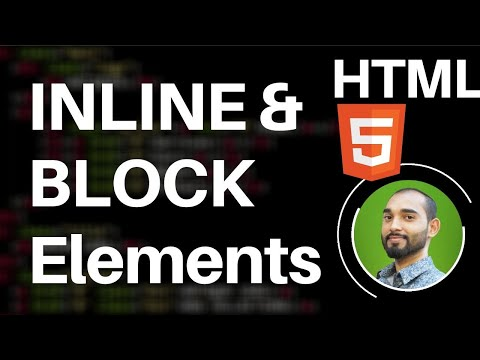 Difference between Inline Elements and Block Level Elements in HTML