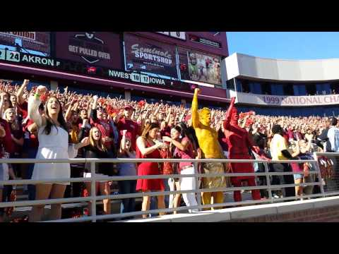FSU student section sings fight song