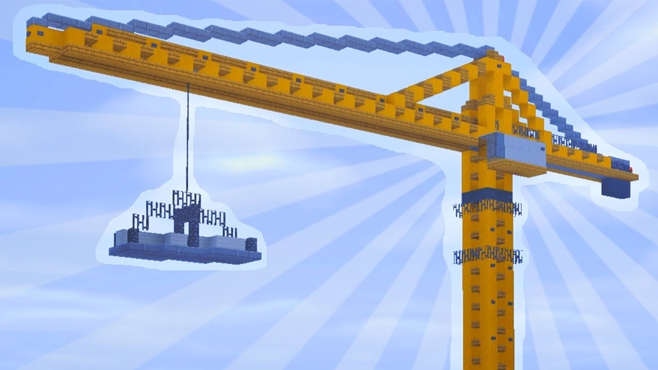 How To Build a CONSTRUCTION CRANE in Minecraft (CREATIVE ... - Construction Minecraft