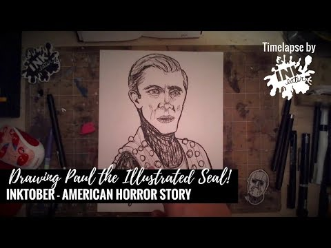Drawing Paul the Illustrated Seal from American Horror Story-Freakshow Season -Inktober 2017 by I