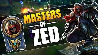 MASTERS OF ZED | AMAZING ZED PLAYS MONTAGE | League of Legends