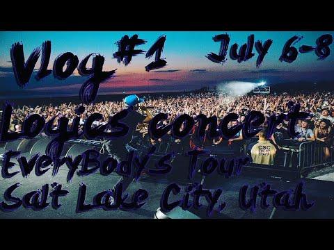 Vlog #1 Logic concert! Salt Lake City, Utah!!!