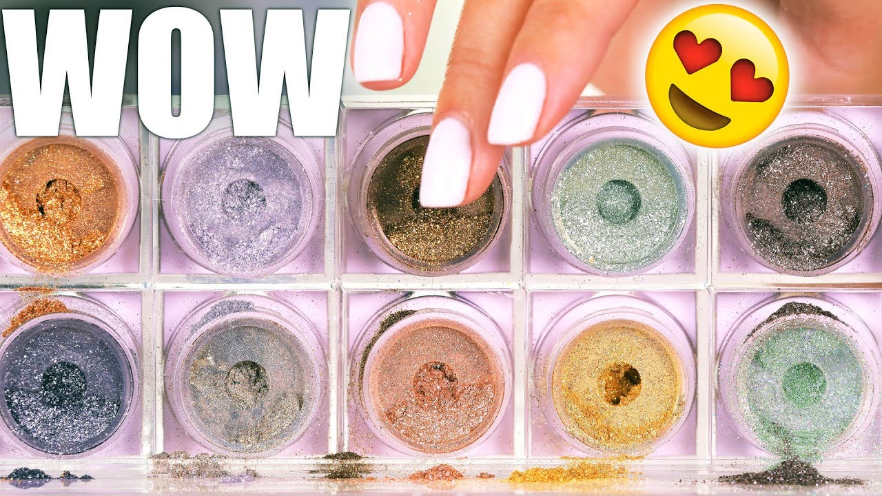 wow best glitter eyeshadows youtube