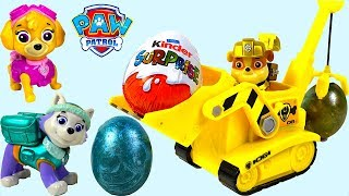 EASTER STORY WITH PAW PATROL PUPS EGG HUNT & KINDER SURPRISE - RUBBLE CAN'T FIND AN EGG