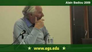 Alain Badiou. The Event as Creative Novelty 2009 8/13