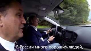 Владимир Путин тестирует Ладу Веста