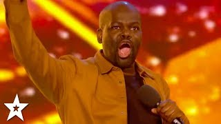 connectYoutube - HILARIOUS Comedian Daliso Chaponda WINS GOLDEN BUZZER! | Britain's Got Talent 2017