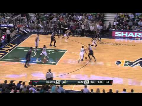 Atlanta Hawks vs Utah Jazz | March 10, 2014 | NBA 2013-14 Season