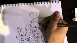 Let's Draw Pokemon! squirtle, wartortle and blastoise