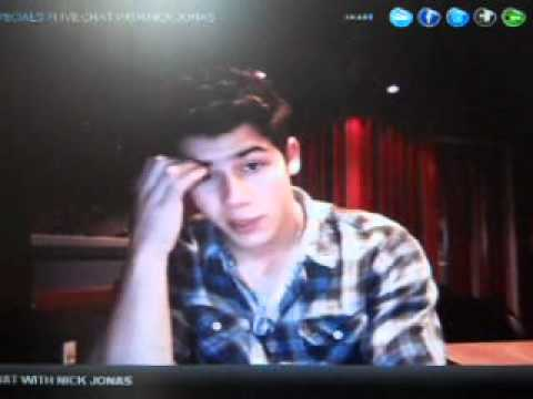 Nick Jonas Live Chat 2/26/2011 PART 1
