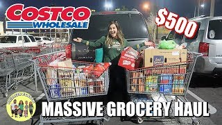 MASSIVE COSTCO GROCERY HAUL   HUGE GROCERY HAUL & SHOP WITH ME AT COSTCO $500   PHILLIPS FamBam