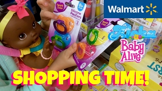 � Walmart Trip with Skye and Baby Alive Wets N Wiggles - Ava! Shopping for Reborn Making Supplies.