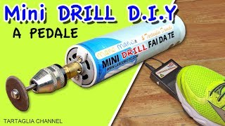 How to make Mini drill FOOTSWITCH - Mini trapano fai da te, si accende da pedale