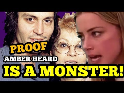 PROOF Amber Heard IS A MONSTER! ATTACKING Johnny Depp's DEAD MOM!