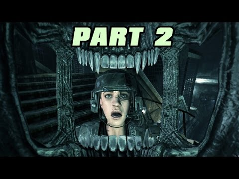 Let's Play Alien Vs Predator 3 Deutsch #02 Alien Story - Hug your Face