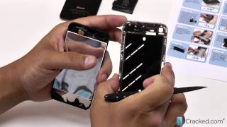 official iphone 4 at gsm screen lcd replacement video instructions icracked com