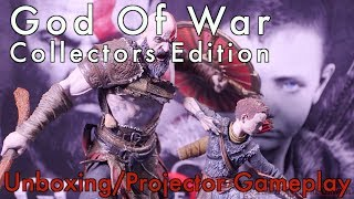 God Of War PS4 - Collectors Edition Unboxing & Projector Gameplay [Optoma HD141X]   Impressions