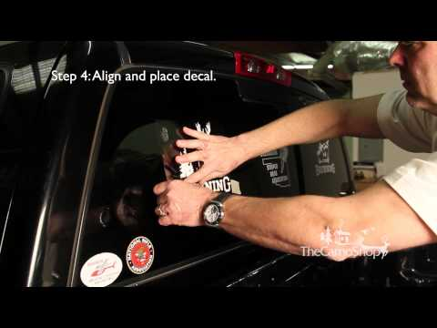 Camo Truck: Browning Camo Decal Sticker Installation (Driver side)