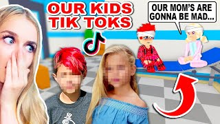 REACTING To Our *KIDS TIKTOKS* That Ended Them Up In A HOSPITAL In Adopt Me! (Roblox)
