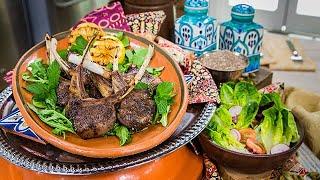 Sofia Pernas' Lamb Chops And Salad With Lemon Mustard Dressing - Home & Family