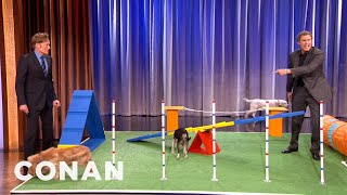 Will Ferrell's Amazing Canine Obstacle Course Demo - Conan On Tbs