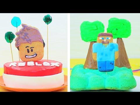 6 DIY Minecraft Süßigkeiten vs Roblox Süßigkeiten - Challenge!