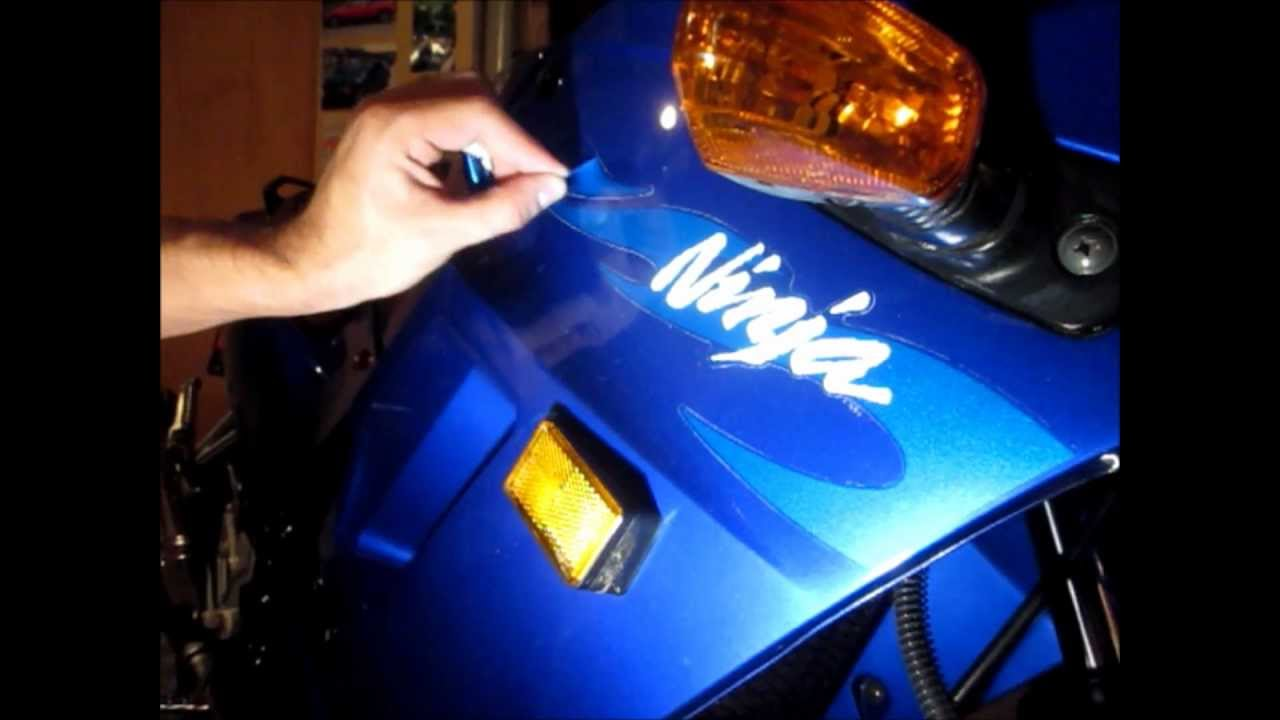 How To Remove Motorcycle Decals Youtube