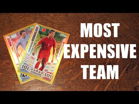 MOST EXPENSIVE TEAM IN MATCH ATTAX ENGLAND 2014
