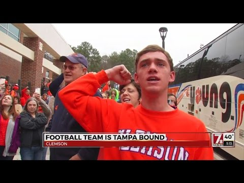 Clemson Football team heads to Tampa for National Championship Game