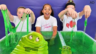 5000 pounds of slime in hot tub