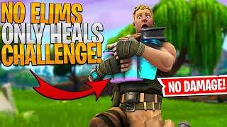 IMPOSSIBLE HEALS ONLY Fortnite Challenge - Fortnite Stream Highlight