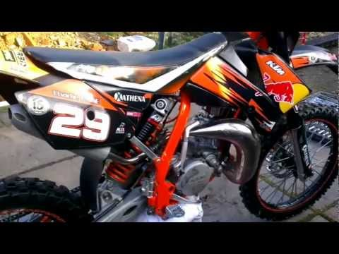 2008 red bull ktm 85 sx after rebuild - youtube