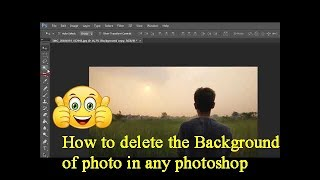 How to Delete the Background of the photo in any Photoshop|%%