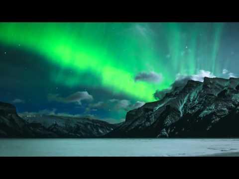 Les aurores boréales a Alberta / Canada