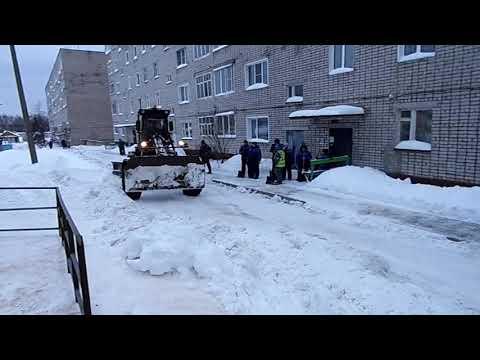 Омутнинск накрыл снегопад