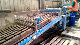 Used Fully Automatic tumbling Line for Pavers