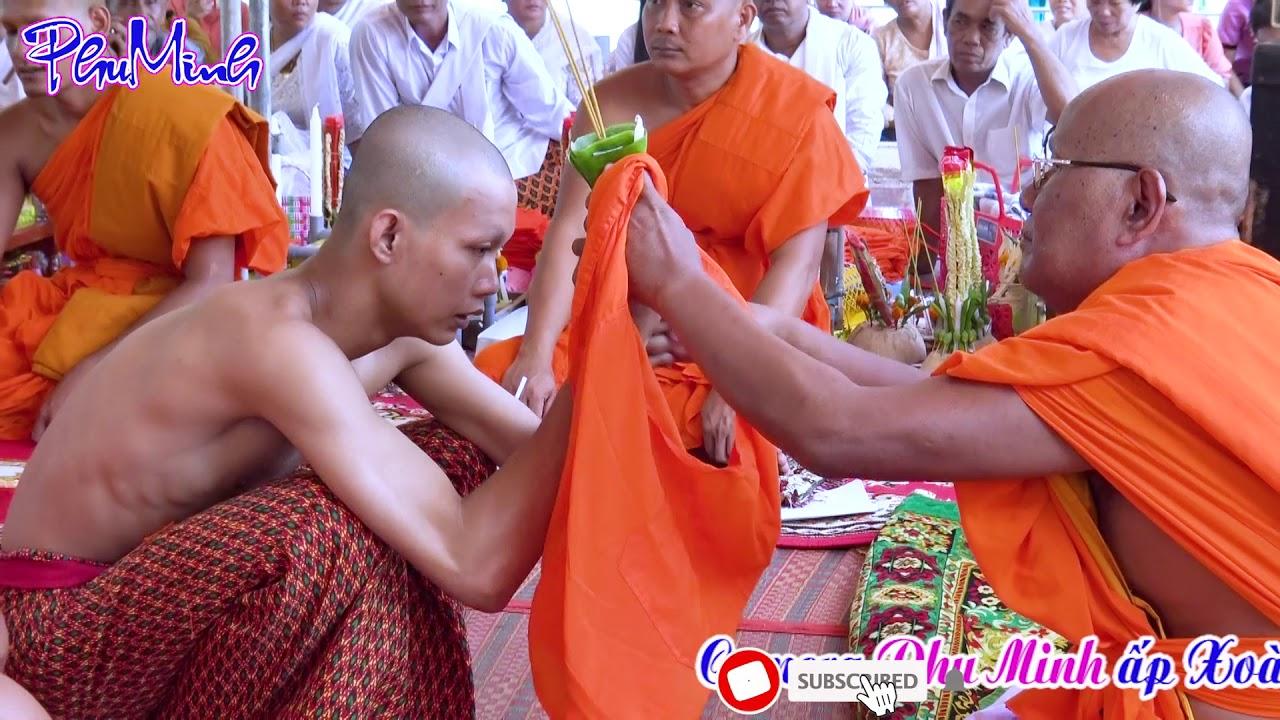 ពិធីបំបួសនាគវត្តបឹង / lễ xuất gia Chùa Bâng  (Leng) – tân sơn – trà Cú – trà vinh – 7.5.2020.p2