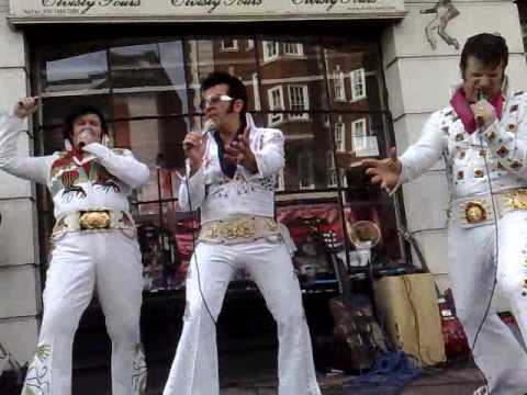 Elvis Street Party Outide Elvisly Yours Shop, Baker Street London