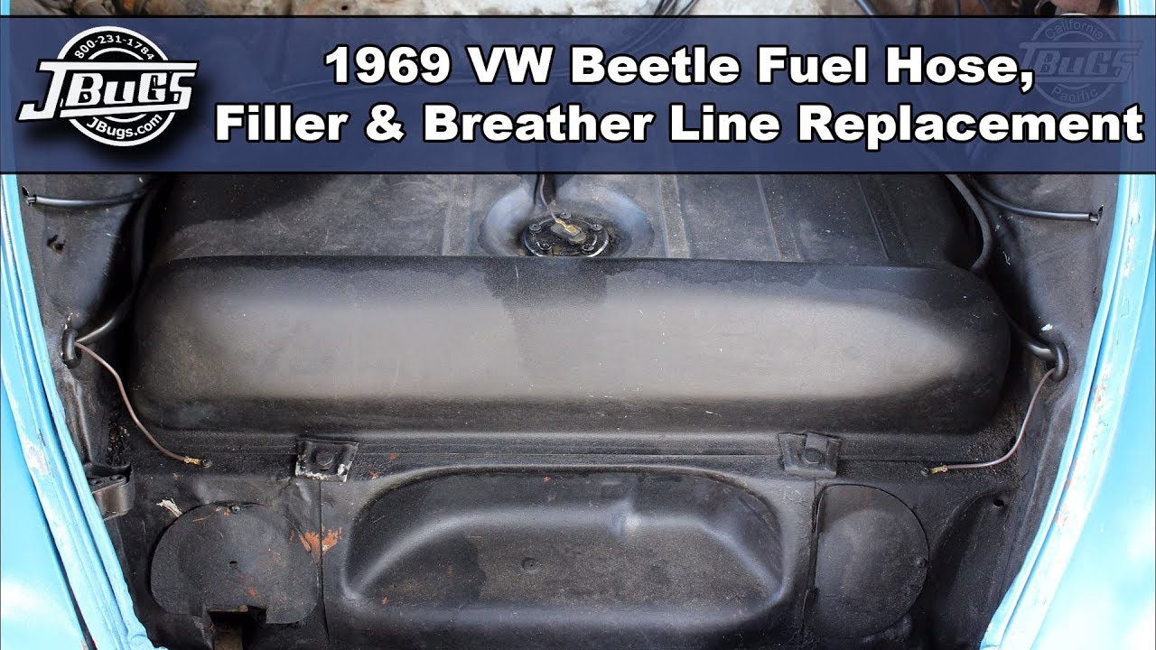 small resolution of jbugs 1969 vw beetle fuel hose filler breather line replacement