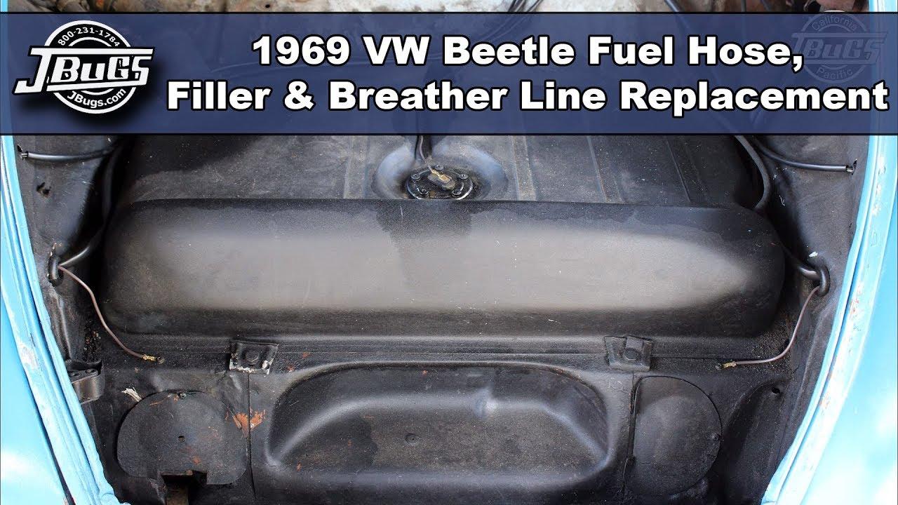 JBugs  1969 VW Beetle  Fuel Hose, Filler & Breather Line