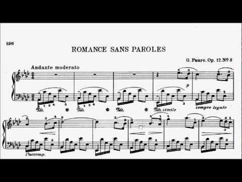 Lcm Piano 2013 2017 Grade 7 C1 Faure Romance Sans Paroles In Ab Op