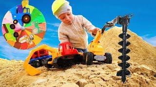 Играем в Большой Песочнице машинками для мальчиков.  Челлендж настоящее против...